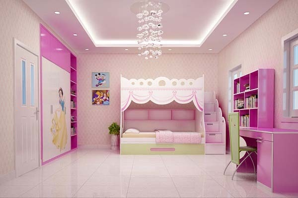gạch ốp tường phòng ngủ màu hồng-03