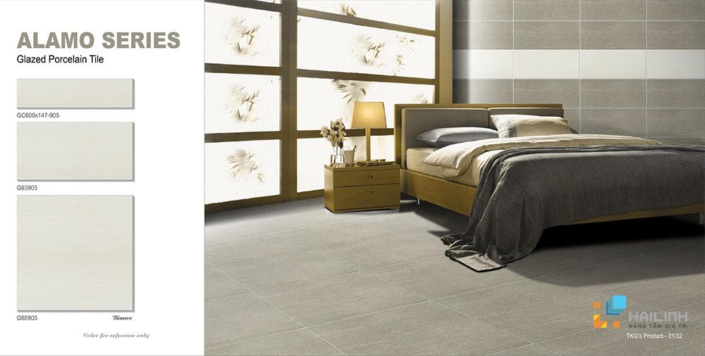 Gạch lát nền phòng ngủ màu nâu